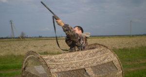 Скрадки для охоты на гуся